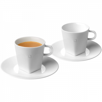 Pure lungo cups & 2 Saucers